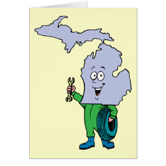 Michigan MI Vintage Travel Souvenir Greeting Card