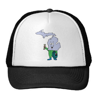 Michigan MI Vintage Travel Souvenir Mesh Hats