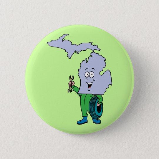 Michigan MI Vintage Travel Souvenir Pinback Button