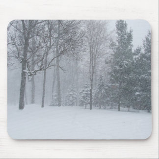 Michigan MI Winter Snow On The Trees Scene Mouse Pad
