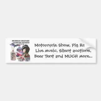 Michigan Military Families Benefit Car Bumper Sticker