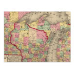 Michigan, Minnesota, y Wisconsin 2 Tarjeta Postal