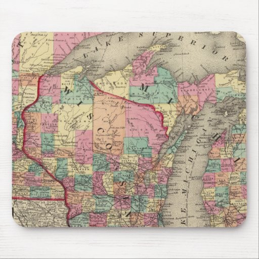 Michigan, Minnesota, y Wisconsin Tapete De Ratones