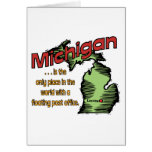 Michigan Motto ~ Worlds Only Floating Post Office Greeting Card