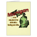 Michigan Motto ~ Worlds Only Floating Post Office Card