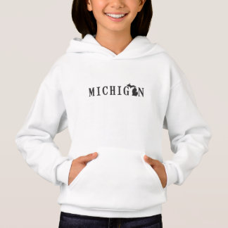 Michigan Name with State Shaped Letter children's Hoodie