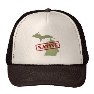 Michigan Native with Michigan Map Trucker Hats