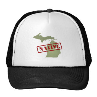 Michigan Native with Michigan Map Hat