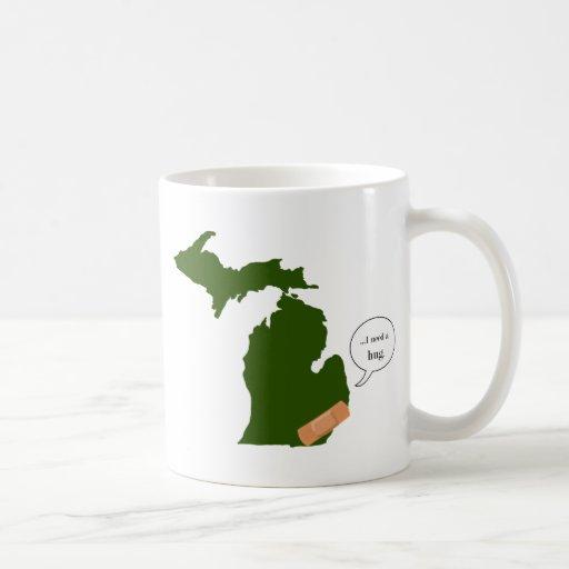 Michigan necesita un abrazo taza