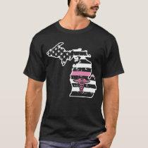 Michigan Nurse T shirts For Women