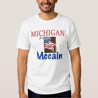 Michigan para la camiseta de Mccain Playera