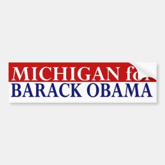 Michigan para la pegatina para el parachoques de B Etiqueta De Parachoque