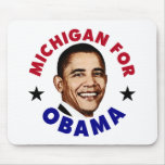 Michigan para Obama Alfombrilla De Raton