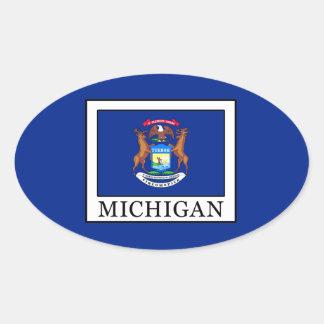 Michigan Pegatina Ovalada