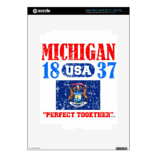 MICHIGAN PERFECT TOGETHER DISTRESSED PRODUCTS iPad 3 SKINS