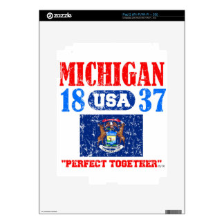 MICHIGAN PERFECT TOGETHER DISTRESSED PRODUCTS DECAL FOR iPad 2