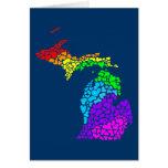 michigan pride : rainbow hearts stationery note card