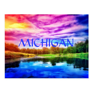 MICHIGAN RAINBOW RIVER POSTCARD