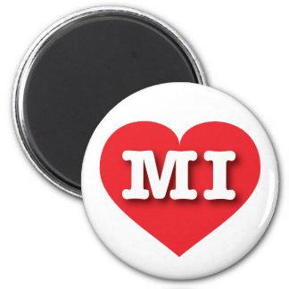 Michigan Red Heart - Big Love Magnet