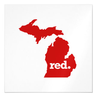 MICHIGAN RED STATE MAGNETIC CARD
