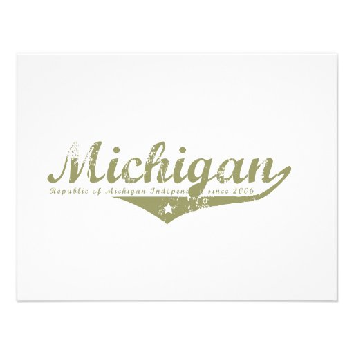 Michigan Revolution T-shirts Personalized Announcement