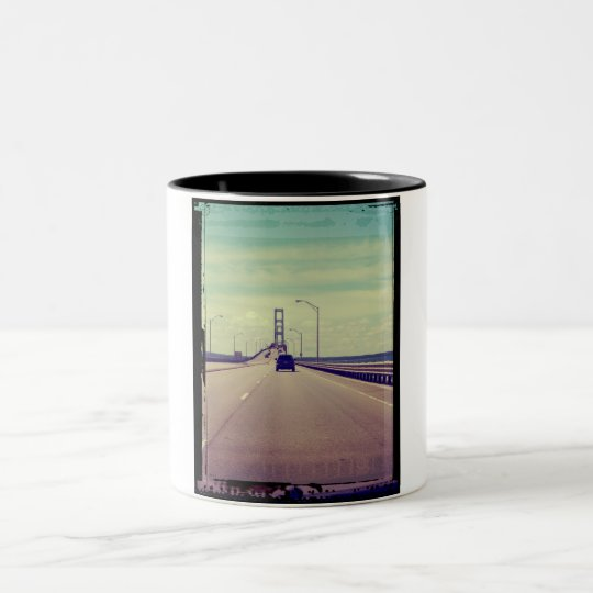Michigan Road Trip Two-Tone Coffee Mug