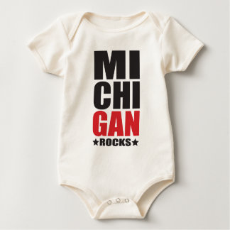 Michigan Rocks! State Spirit Gifts and Apparel Baby Bodysuit