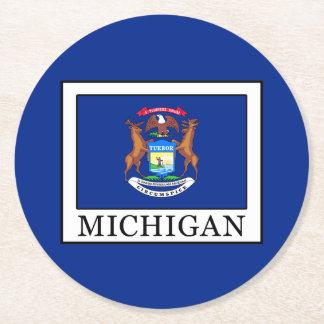 Michigan Round Paper Coaster