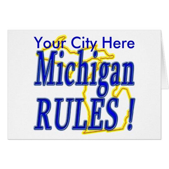 Michigan Rules ! Card