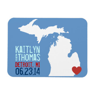 Michigan Save the Date - Customizable City Magnet