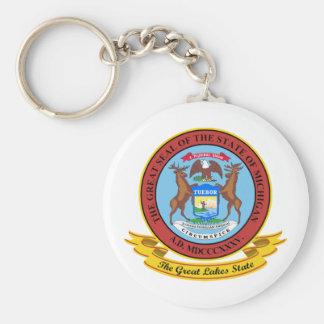 Michigan Seal Keychain