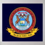 Michigan Seal Poster