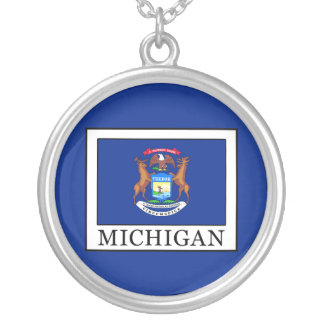 Michigan Silver Plated Necklace