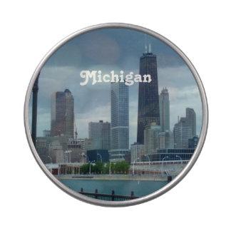 Michigan Skyline Jelly Belly Candy Tin