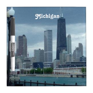 Michigan Skyline Dry Erase Board