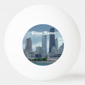 Michigan Skyline Ping-Pong Ball
