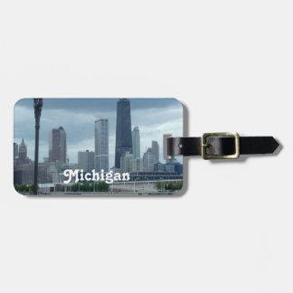 Michigan Skyline Bag Tag