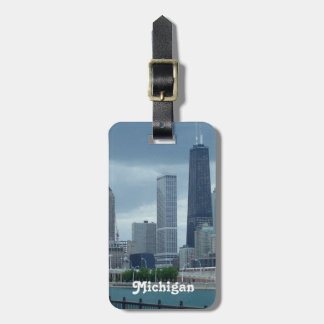 Michigan Skyline Luggage Tag