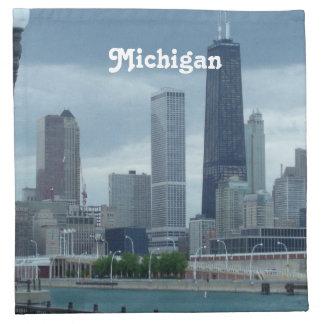 Michigan Skyline Printed Napkins