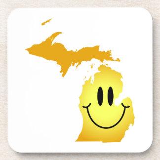 Michigan Smiley Face Coaster