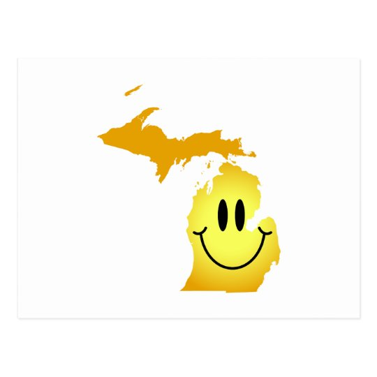 Michigan Smiley Face Postcard