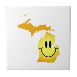 Michigan Smiley Face Tile