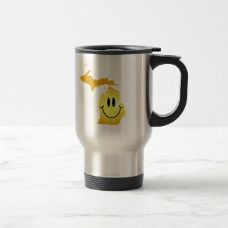 Michigan Smiley Face Travel Mug