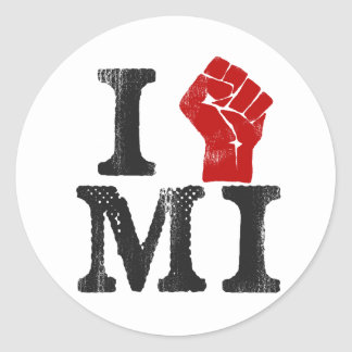 Michigan Solidarity Classic Round Sticker
