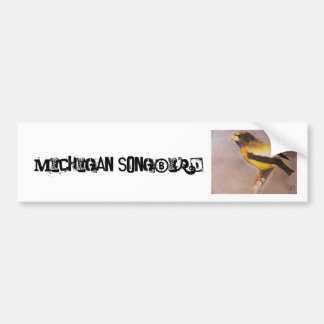 Michigan SongBird Car Bumper Sticker