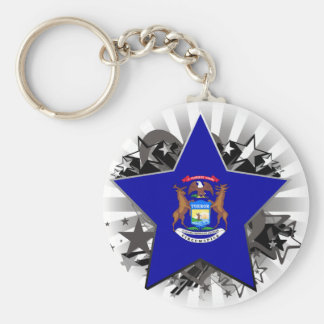 Michigan Star Key Chains