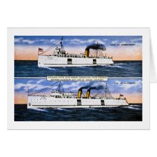 Michigan State Auto Ferries Card