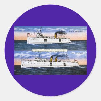 Michigan State Auto Ferries Classic Round Sticker