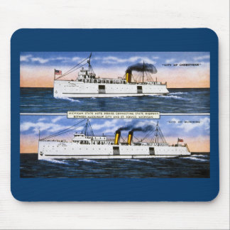 Michigan State Auto Ferries Mouse Pad