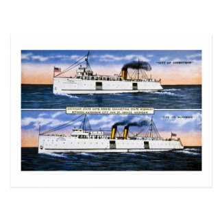 Michigan State Auto Ferries Postcard